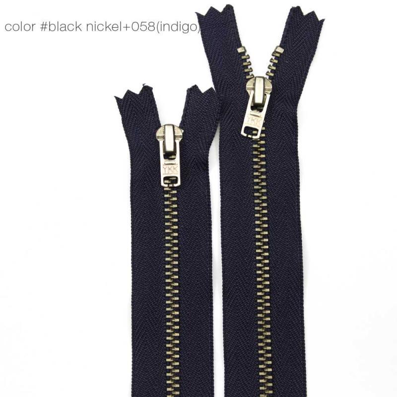 400008 Молния YKK джинсовая металлическая цветная неразъемная_1