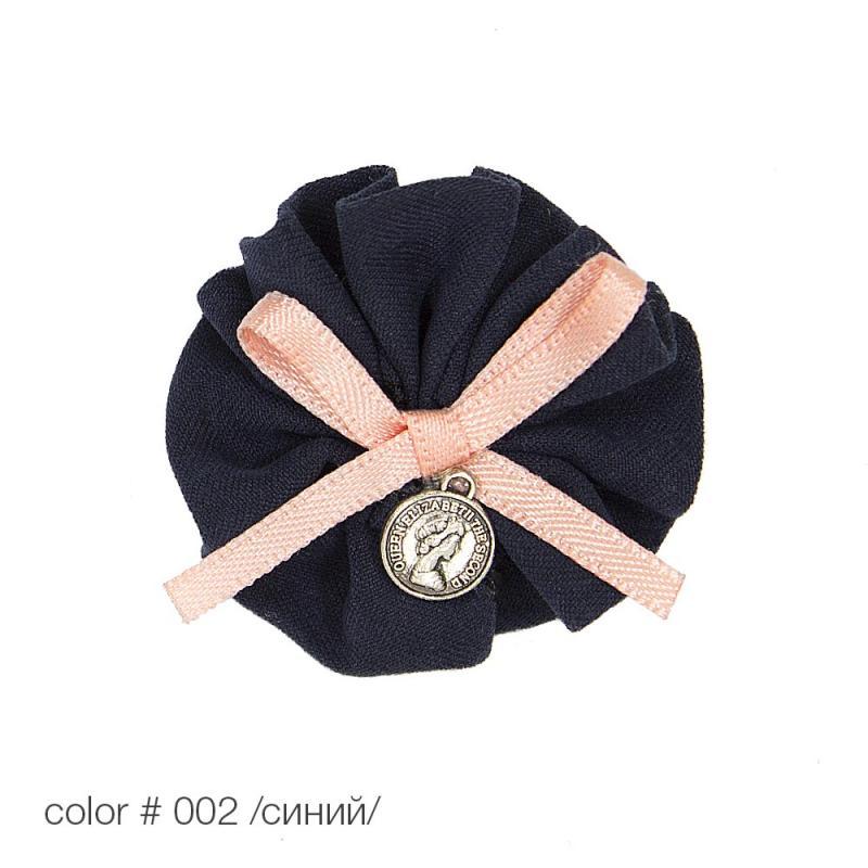 #1703/1 Аппликация пришивная бантик с медальоном