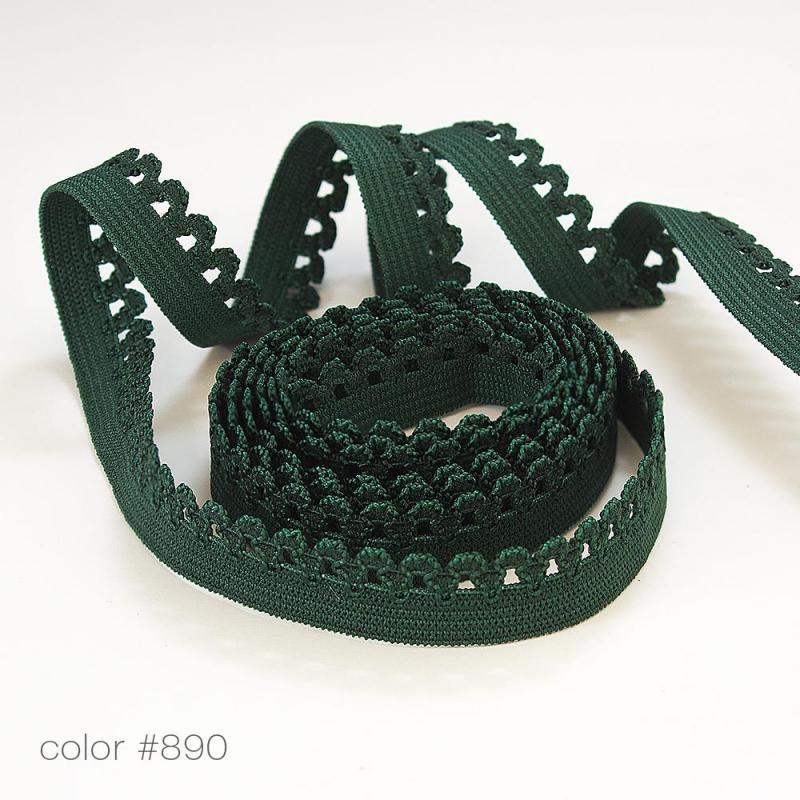 #5002 Резинка бельевая кружевная цветная