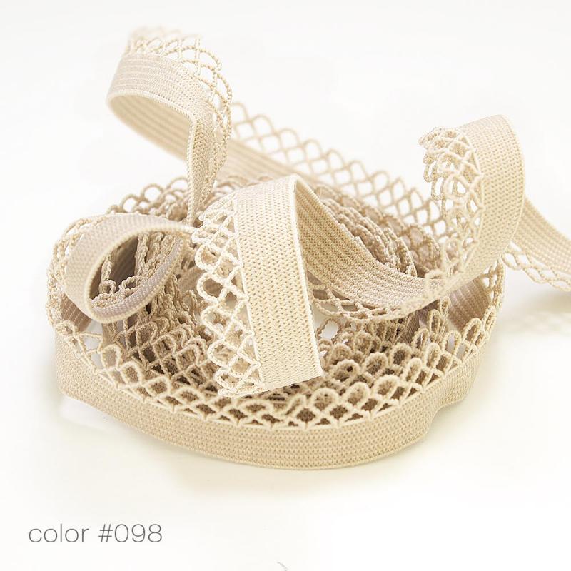 #5004 Резинка бельевая кружевная цветная