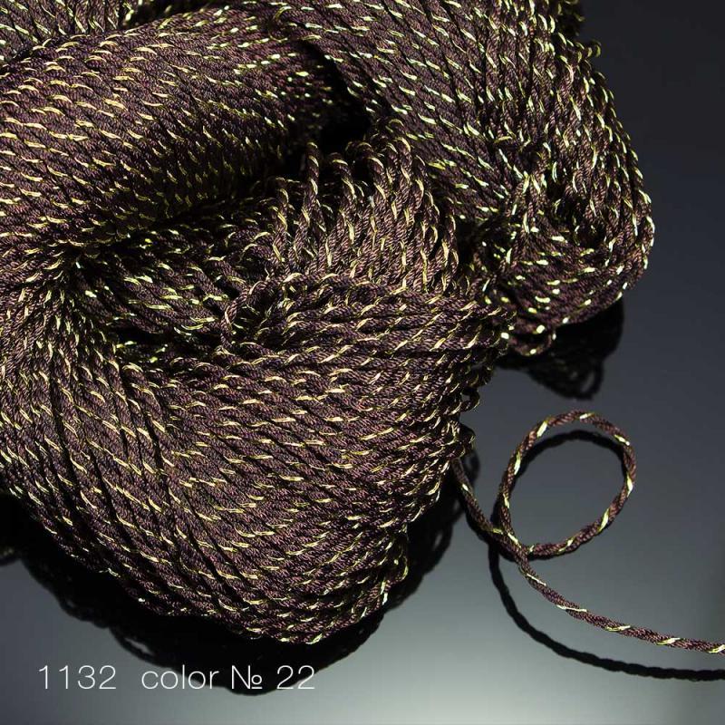 #1132 Шнур витой декоративный с люрексом