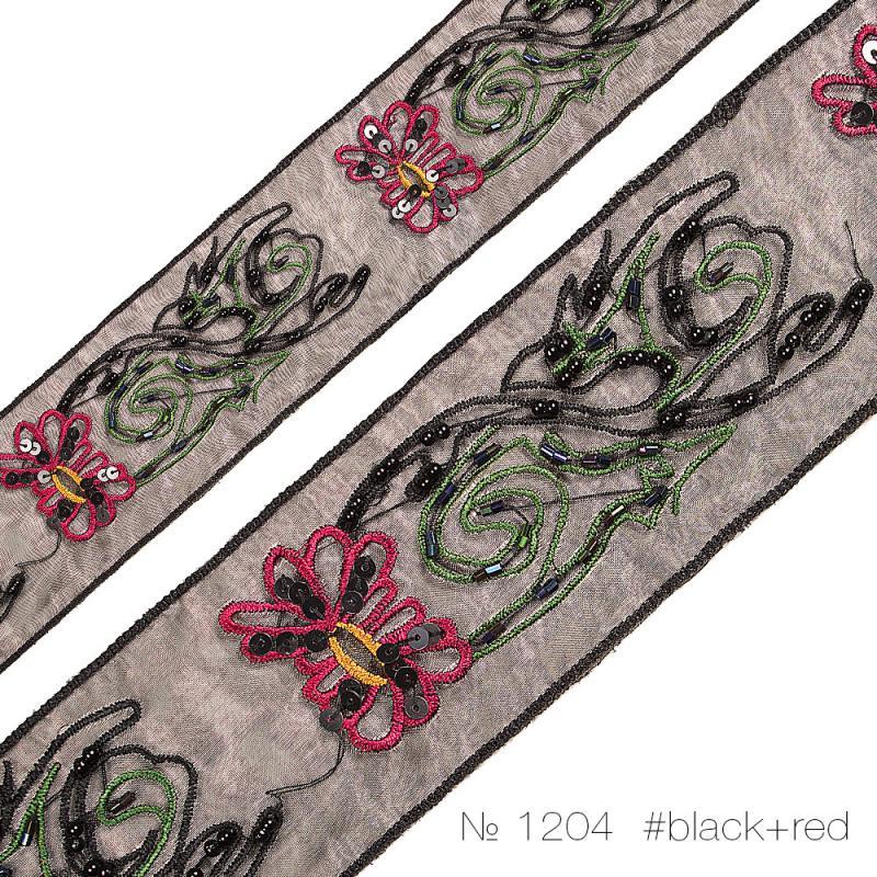 #1204 Тесьма декоративная с бисером и пайетками_1