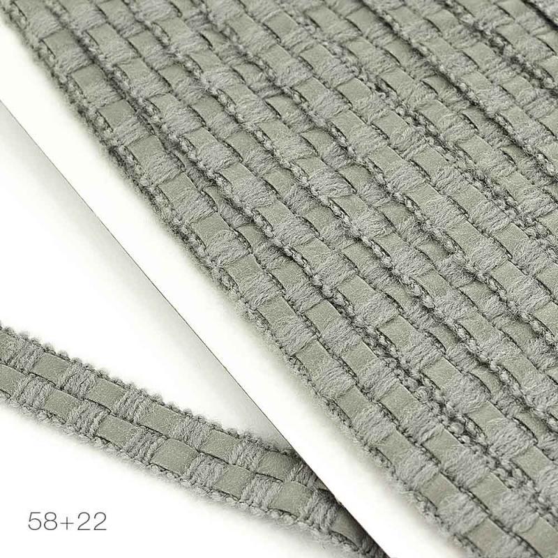 5545 Тесьма шерстяная с кожзаменителем